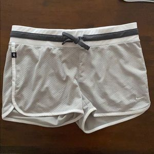 Grey Nike mesh athletic shorts